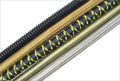 Braided flexible hose and conduits for aerospace applications