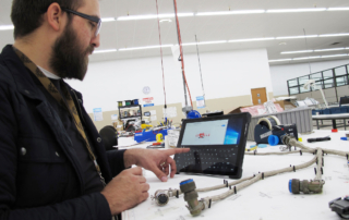 Wiring Harness manufacturing with aid of tablets